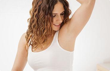 Hairless armpits