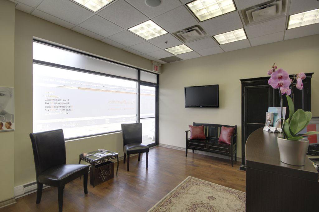 Laser Aesthetics Burlington waiting room